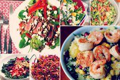 Saladas tão gostosas que você não vai sofrer para comer vegetais   MdeMulher Veggie Recipes, Vegetarian Recipes, Cooking Recipes, Healthy Recipes, Banting Diet, Low Carb Diet, Food And Drink, Veggies, Yummy Food