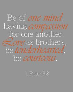 1 Peter 3:8. My house rules will come from this passage.