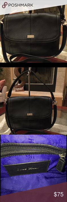 Like New Cole Haan Gorgeous black leather Cole Haan Handbag. Like new condition.  Long strap included. Cole Haan Bags Shoulder Bags