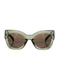 Eva Dark green sunglasses $16.00