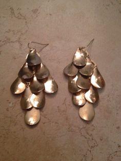 Gold Chandelier Earrings Dangle Boho Gypsy Costume Jewelry ...