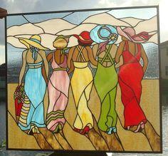 Andretti And Tulsa Belle - Delphi Artist Gallery Stained Glass Quilt, Faux Stained Glass, Stained Glass Designs, Stained Glass Panels, Stained Glass Projects, Stained Glass Patterns, Mosaic Art, Mosaic Glass, L'art Du Vitrail