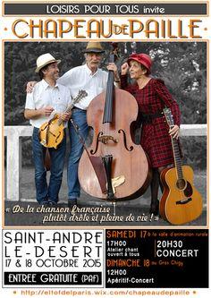 Atelier chanson et concert à Saint-André-le-Désert les 17 et 18 octobre 2015.