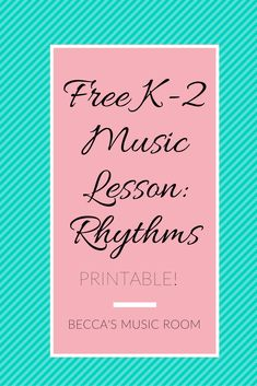 Free elementary music lesson featuring ta and ti ti! We used movement to learn beat v. rhythm and popsicle sticks to learn how to write them!