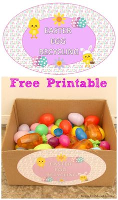 Leftover Easter Eggs - a fun Easter Egg Recycling tradition with free printable.