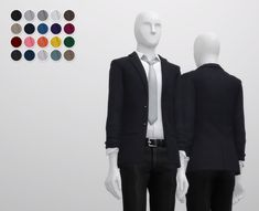 Business Suit M Separate Top at Rusty Nail • Sims 4 Updates