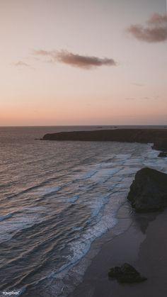 Download premium image of Orange sky at the beach by Felix about scenery, ocean, ocean iphone wallpaper, iphone wallpaper, and beach iphone 1215669