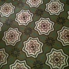 """This is a restaurant floor tile but visually """"reads"""" like a rug!"""