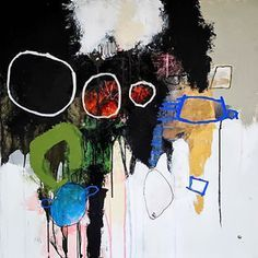 Abstract paintings by Nadine Bourgne
