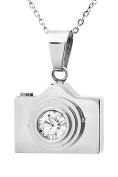Stainless Steel Camera Pendant Necklace.
