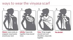 Lululemon Vinyasa Scarf! To and from yoga, around the house, super comfy scarf that you can wear countless ways...loving it.