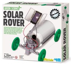 Solar Rover Green Science Kit Alternate Energy Vehicle Fun Mechanics Kit by 4M from Toysmith Place your solar rover outdoors on a sunny day and watch it zip along. No batteries are required. The solar