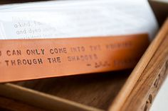 """You Can Only Come into the Morning Through the Shadows"" - J.R.R. Tolkien quote Bookmark"
