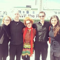Katy Noonan and Gang - Rainbow Warrior Melbourne Open Days & of March 2013 (c) Greenpeace / Alexandra Harris Rainbow Warrior, March 2013, Melbourne, Australia