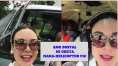 GRETCHEN BARRETTO SOSYAL HELICOPTER RIDE ON THE WAY TO HER BIRTHDAY PARTY