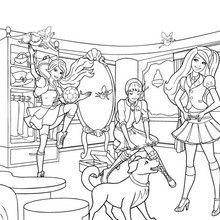 Blair's school uniform Cinderella Coloring Pages, Barbie Coloring Pages, Love Coloring Pages, School Coloring Pages, Princess Coloring Pages, Free Coloring, Coloring Books, Princess Charm School, Barbie Princess