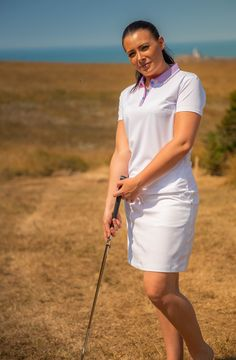 Ladies CoolPass Breathable Lightweight Contrast Buttons & Placket Short Sleeve Polo Shirt Sports Top. #Golfwear #islandgreen