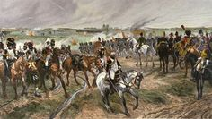 Napoleon's Old Guard 1815 Engraved by Jules Jacquet after a picture by Richard Caton Woodville.