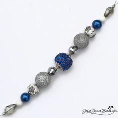 Blazing Blue Team Strand, $5.99 #DIY #Jewelrymaking