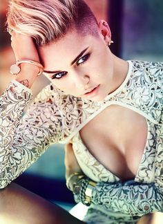 Miley Cyrus is Edgy in Fashion Magazine's November 2013 Cover Shoot #MileyCyrus #fashion #photoshoot