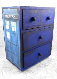 Custom Tardis Inspired Stash Jewelry Box