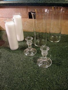 Dollar Store Hurricane Candles :: Hometalk         http://www.hometalk.com/2535139/dollar-store-hurricane-candles