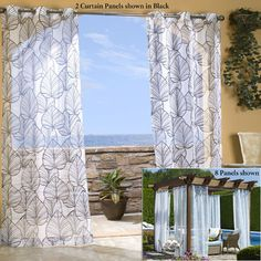 Buy Harbor House 63 Inch Palm Sheer Window Curtain Panel In Natural From  Bed Bath U0026 Beyond | Master Bedroom | Pinterest | Window Curtains, Palm And  Window