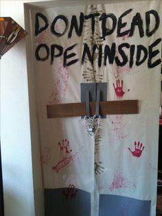 Don't open dead inside- The walking dead door decor