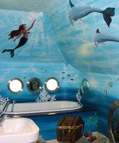 Ocean theme bathroom ideas and pictures | Create a nautical themed bathroom | WooHome