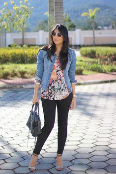 Look: Mix de Estampas jaqueta