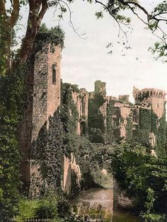 Raglan Castle, UK - I fell in love with this place in April 2002 - toured in 3x(can't wait to take the manbeast someday)