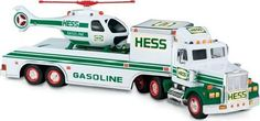 1995's Hess truck came with a bonus – a helicopter. The truck set sales records for Hess.