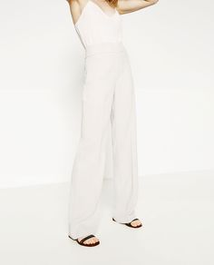 STRAIGHT LEG FLOWING TROUSERS