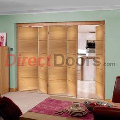 Nuvu Santandor prefinished oak doors, prefinished folding doors in various sizes.  #santandorfoldingdoors