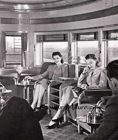 ladies in the train's drawing room
