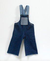 Salopette blue jean, vintage blue jean overalls for chidren