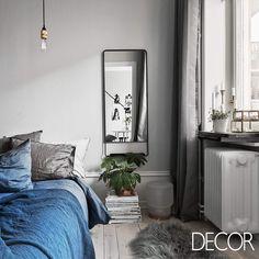 Composição em tons sóbrios no dormitório