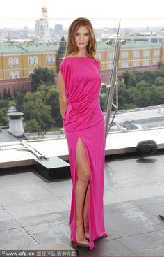 2012 Fuchsia Elegant Empire Floor Length Evening Dress(MSN-008)