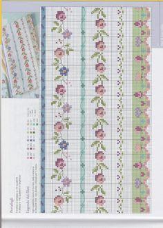 1000 idee a PUNTOCROCE 2 Mini Cross Stitch, Cross Stitch Borders, Cross Stitch Rose, Cross Stitch Samplers, Cross Stitch Flowers, Cross Stitch Designs, Cross Stitching, Cross Stitch Embroidery, Embroidery Patterns