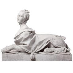 18th Century Madame de Pompadour as Sphinx - I love these, I want one. I'm not 100% serious, but if I was bought one of these beauties, serious intervention by loved ones would be needed to stop a redesign of house and garden around it.