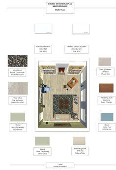 Materialen- en kleurenplan bibliotheekkamer Martin Visser