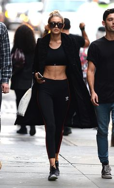 Gigi Hadid's Trainer Reveals The Work-Out She Uses To Get Her Abs : Elle. Gotta put in the work.