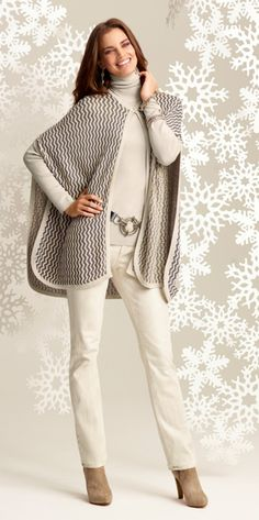 Winter Wow: The Chevron Chic Cape. #gifts #chicos #HolidayFeeling