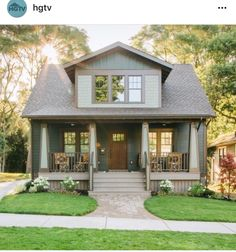 Explore best craftsman style homes with pictures. See exterior designs of craftsman styled homes only at The Architecture Designs. Visit for more architecture designs Bungalow Homes, Craftsman Style Homes, Craftsman Bungalows, Craftsman Bungalow Exterior, Craftsman Front Porches, Bungalow Porch, Bungalow Bathroom, Bungalow Renovation, Dream House Exterior