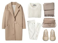 """Camel + White"" by fashionlandscape ❤ liked on Polyvore featuring Acne Studios, Yves Delorme, J.Crew, Cacharel and Chloé"