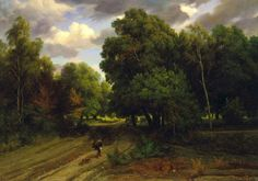 Charles François Daubigny, Crossroads of the Eagles Nest, oil on canvas