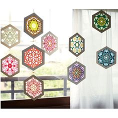 Rose Window, Arts And Crafts, Paper Crafts, Ceiling Lights, Pendant, Frame, Home Decor, Windows, Stars