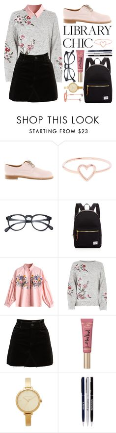 """""""Library Study Day"""" by stephlv ❤ liked on Polyvore featuring Jil Sander, Love Is, Herschel Supply Co., BLANKNYC, Too Faced Cosmetics, Michael Kors, Samsung and librarychic"""