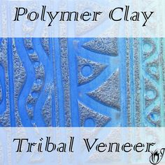 In this tutorial I'll be showing you how to make a tribal polymer clay veneer using a Skinner blend of clay tinted with alcohol inks. It's fun, easy and can be used in many different projects and designs. Polymer Clay Tools, Polymer Clay Miniatures, Polymer Clay Pendant, Fimo Clay, Polymer Clay Projects, Polymer Clay Jewelry, Clay Beads, Clay Tutorials, Beading Tutorials