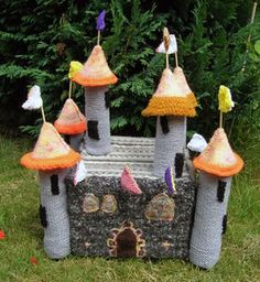 Crochet castle. How awesome is this!?